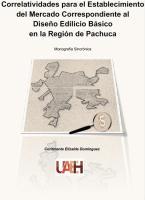 Cubierta para Correlatividades para el Establecimiento del Mercado correspondiente al Diseño Edilicio B´ásico en la región de Pachuca