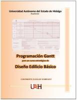 Cubierta para Programación Gantt, diseño edilicio básico